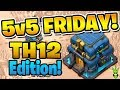 """BOWITCH HITTING THE TRIPLES! - 5V5 FRIDAY TH12 EDITION! - """"Clash of Clans"""""""
