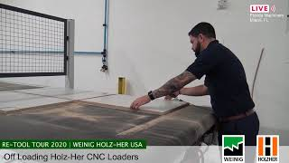 Off Loading CNC Routers - Holz-Her Automation (Spanish) (Live Aug 24, 2020)