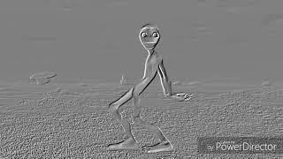 Dans eden yeşil uzaylı çizim hali
