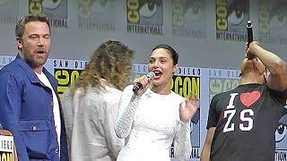 Justice League panel - Jason Momoa & Gal Gadot