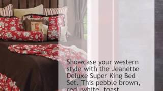 Jeanette Deluxe Bed Set - Super King - lonestarwesterndecor.com