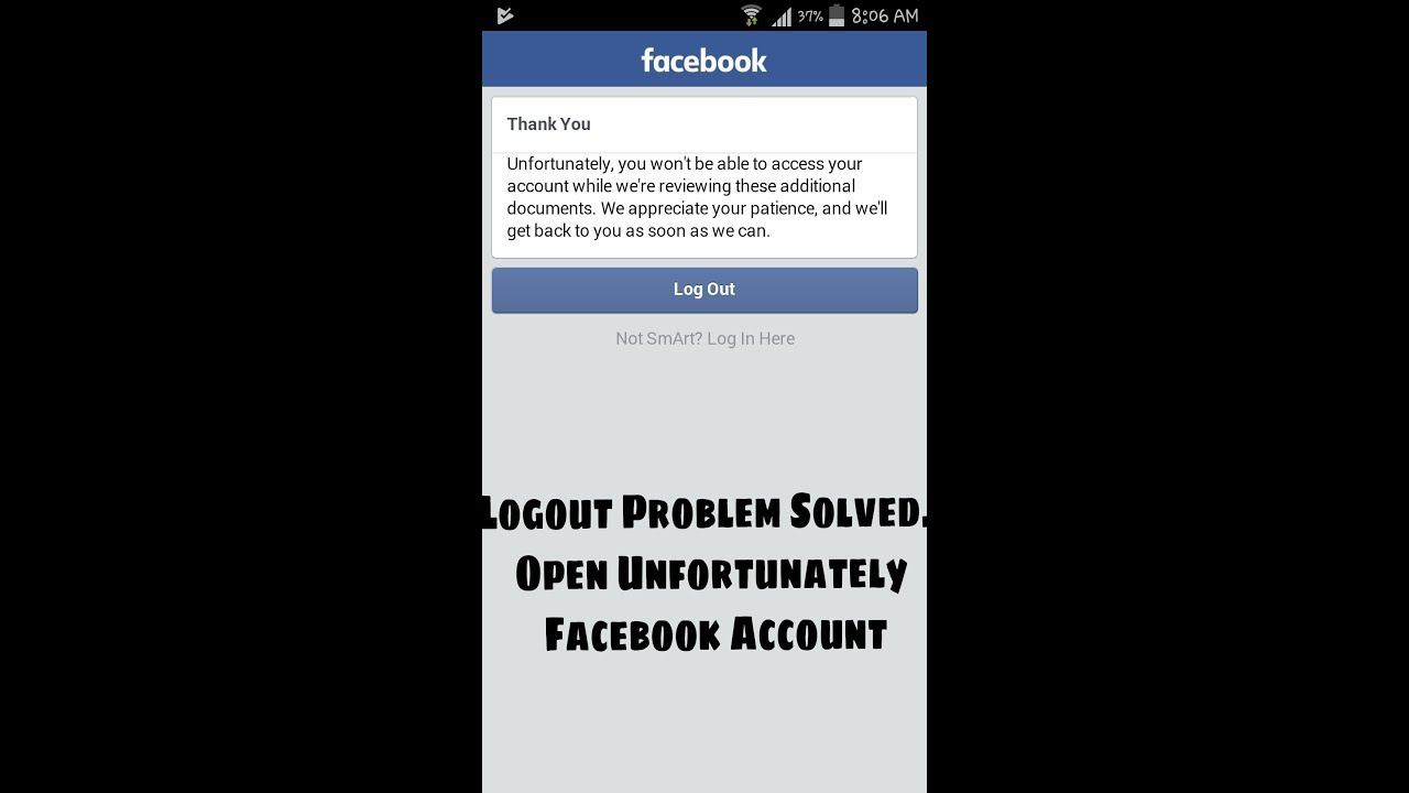 Logout Problem Solved Open Unfortunately Facebook Account