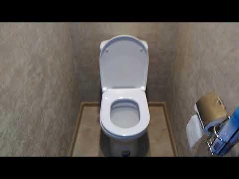 Как скомбинировать обои в туалете