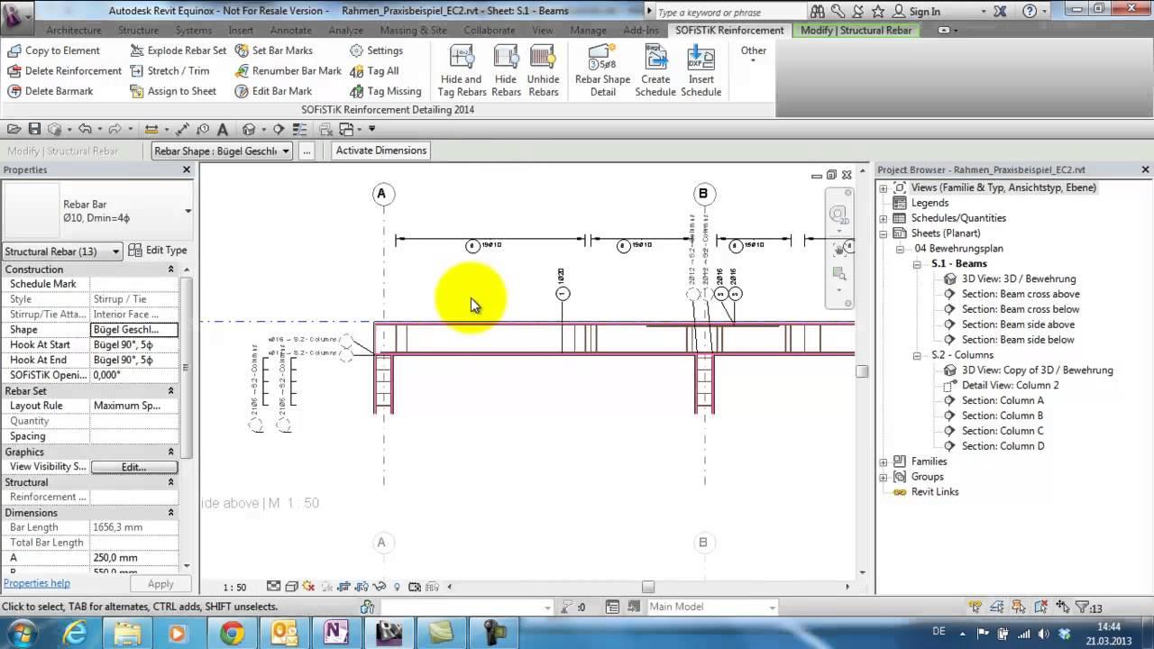 Reinforcement Detailing 2014: Hide Rebars and Edit Barmarks