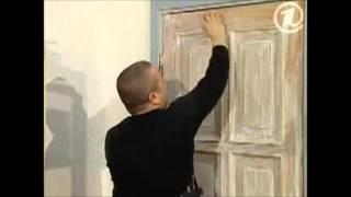 переделка двери в  прованс