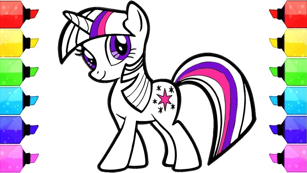 Desenhos Para Colorir My Little Pony Colorindo O Desenho My Little