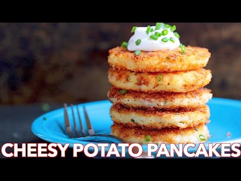 Breakfast: Cheesy Potato Pancakes Recipe - Natasha's Kitchen