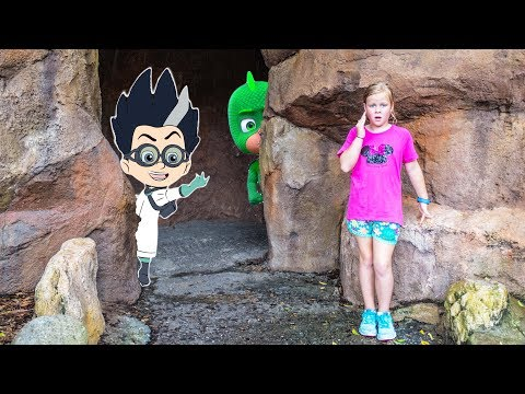 PJ MASKS Disney Assistant Searches for Catboy Gekko and Owlette on Tom Sawyer Island
