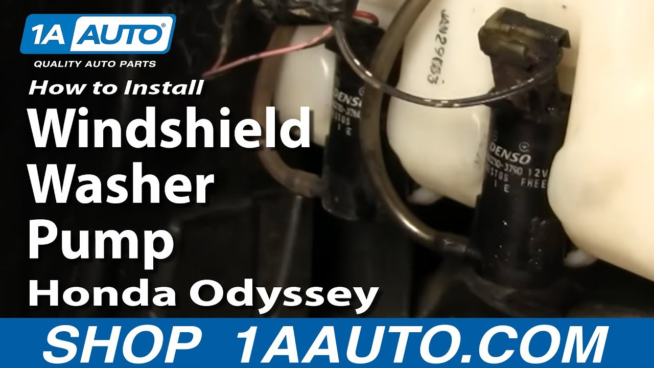 How To Install Replace Windshield Washer Pump Honda
