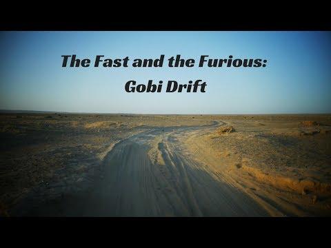 Racing through the Gobi Desert in Mongolia