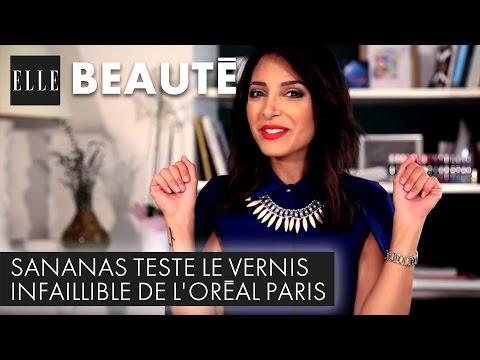 Sananas teste le vernis Infaillible de L'Oréal Paris
