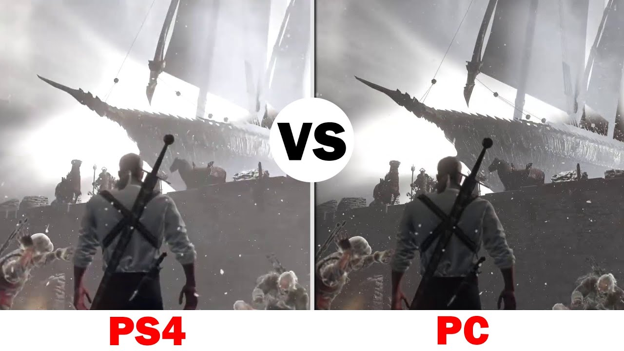 The Witcher 3 Playation 4 Vs Gaming Pc Graphics