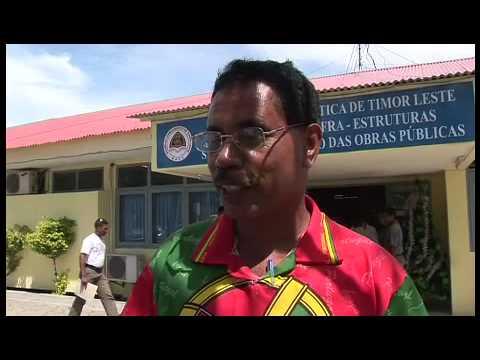 Contractors Protest in Dili