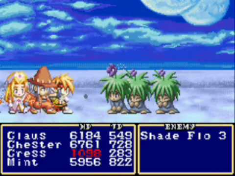 Tales Of Phantasia (GBA) Spell Exhibition
