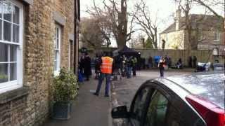 Downton Abbey filming in Bampton, UK