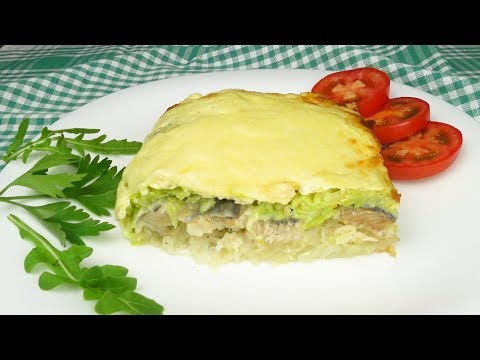 Запеканка с рыбой  и кабачками | Baked Pudding With Fish  And Vegetable Marrows