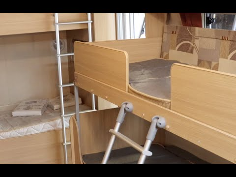 Using The Fold Out Bunk In A Touring Caravan Youtube