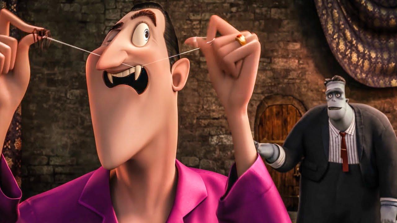 Download Frank Tries On Draculas' Cape Scene - HOTEL TRANSYLVANIA 2 (2015) Movie Clip