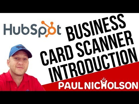 Hubspot Business Card Scanner Introduction