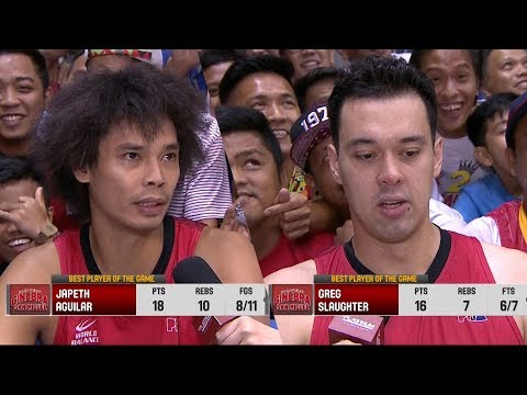 Best Players: Japeth Aguilar and Greg Slaughter   PBA Governors' Cup 2018