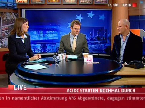 AC/DC Interview Part 1 - N24 Jörg Hacker - 17.10.2008