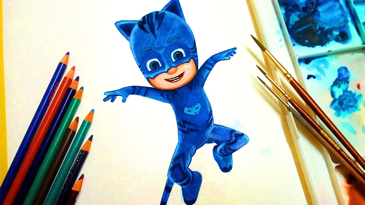 how to draw pj masks masks