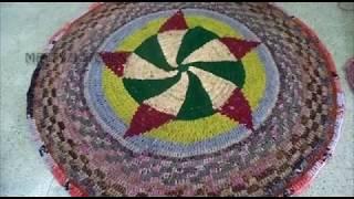 Old Saree Mat idea | Do It Yourself | DIY | how to make simple door mat/ bath mat using old saree