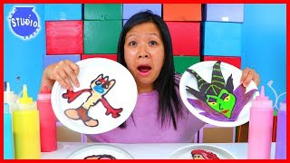 DISNEY PANCAKE ART CHALLENGE! Learn How To Do DIY Pancake Art