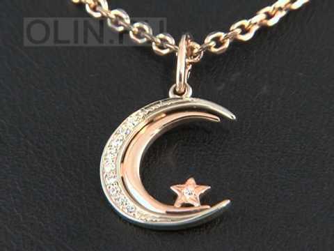 Мусульманская подвеска из золота с бриллиантами