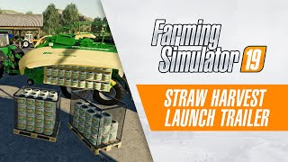 Farming Simulator 19: Straw Harvest now available on PC (Launch Trailer)