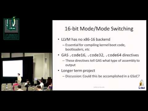 Using the Clang Integrated Assembler to compile the Linux Kernel - B. Adelstein-Lelbach, LSU