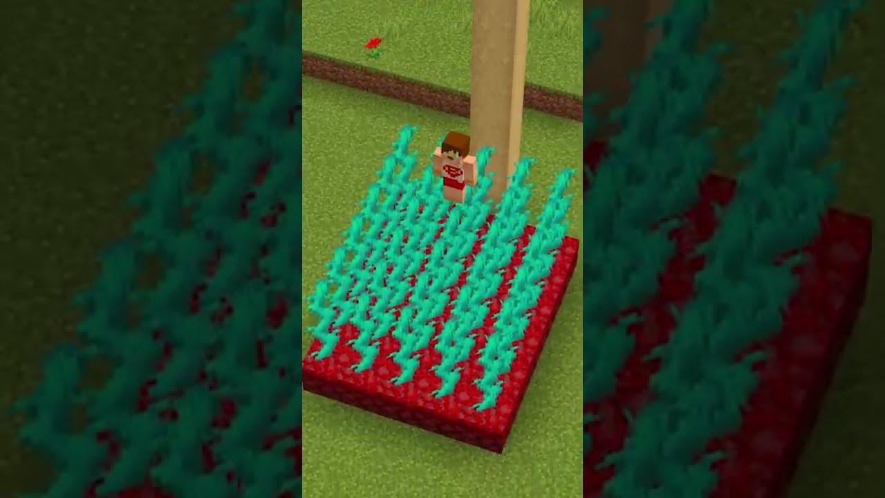Minecraft'ta 100 BLOKTAN DÜŞÜP ÖLMEMEK? #Shorts