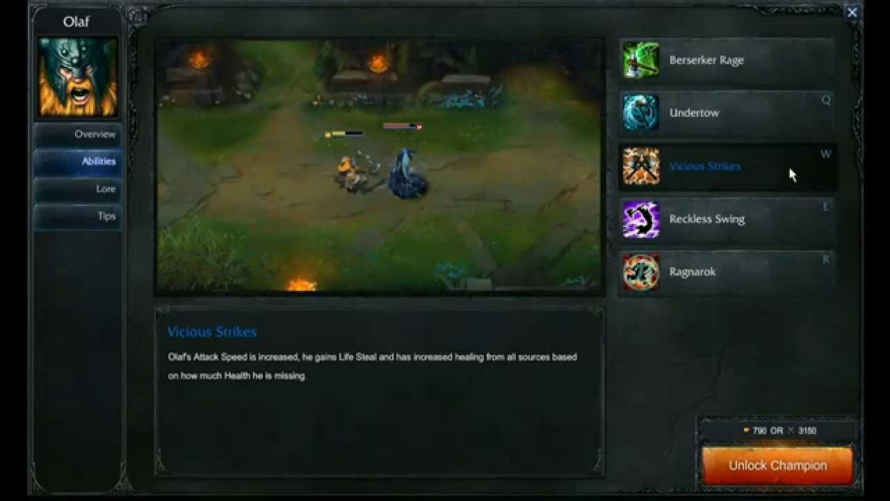 Olaf abilities - League of Legends - YouTube
