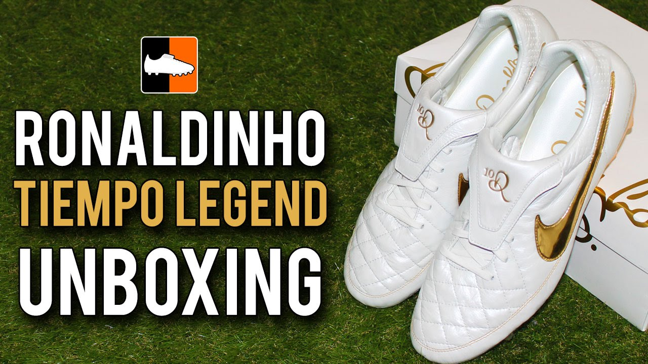 aa1afade826 ... denmark ronaldinho 10r touch of gold unboxing nike tiempo legend v boots  youtube 13225 db965