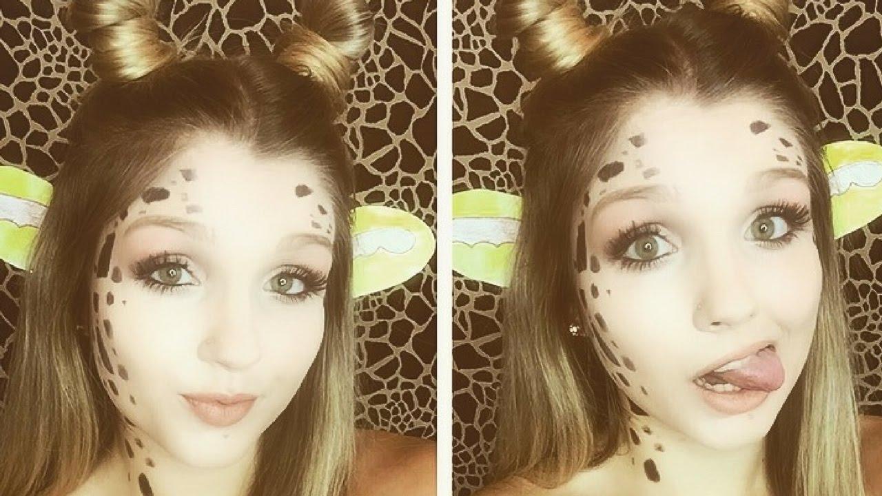 Giraffe Halloween Makeup Tutorial |MakeupBySaraStoy - YouTube