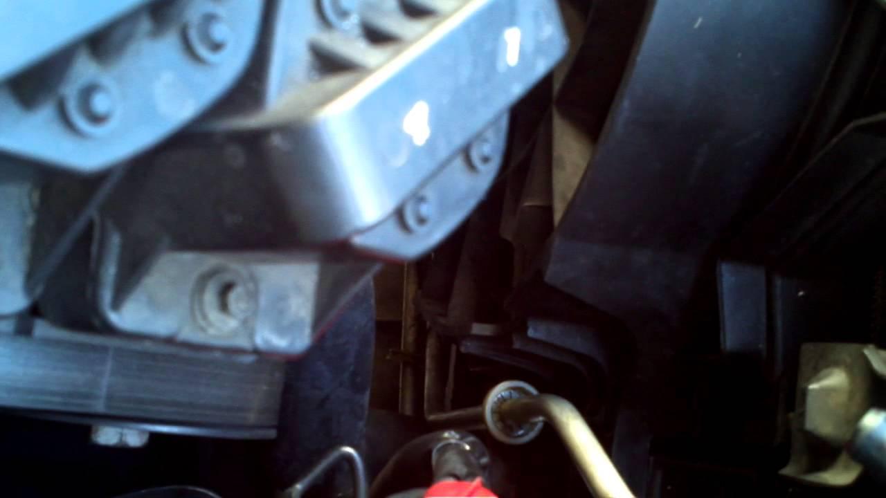 Radiator transmission line removal for 2000 Buick Regal ...
