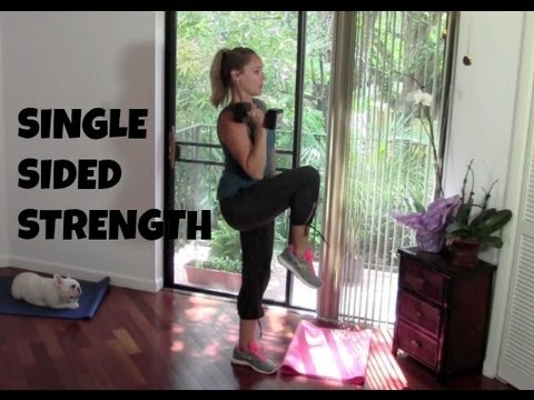 Single Sided Strength (strength training, core, abs, total body workout)