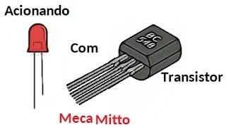 Acionando LED com Transistor BC548 (circuito) |mecamitto