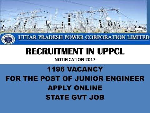 Recruitment in Uttar Pradesh Power Corp.(उत्तर प्रदेश पावर कॉरपोरेशन) 2017, 1196 पदो पर रिक्तियाँ