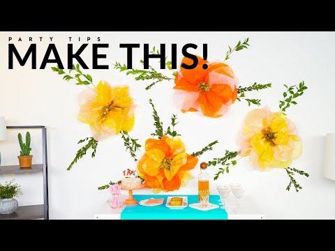 DIY Flower Wall Decor 🌸   Evite DIY