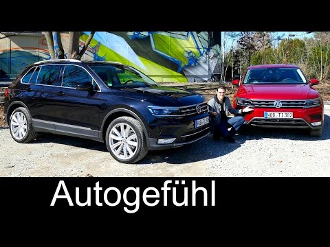 Volkswagen Tiguan onroad/offroad FULL REVIEW test driven all-new new neu VW SUV 2016/2017