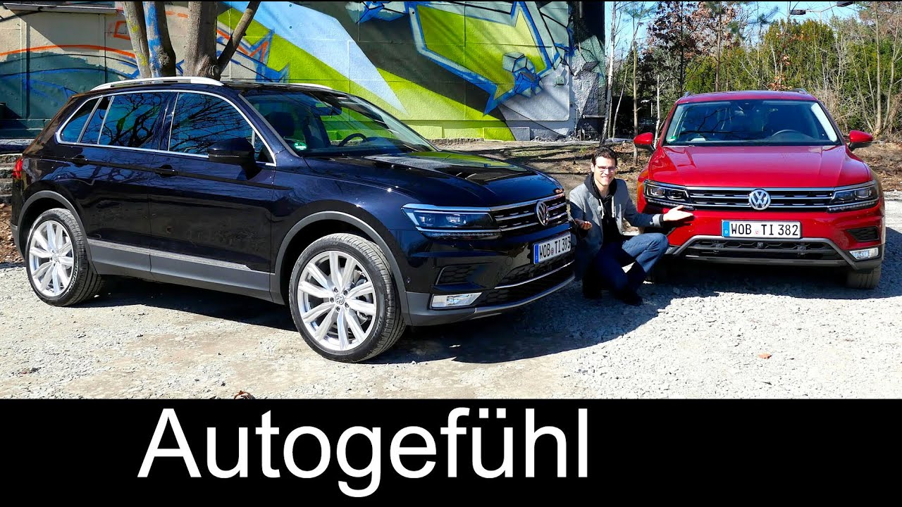 Tiguan onroad/offroad FULL REVIEW test driven all-new new neu VW ...