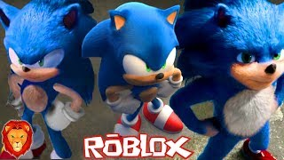 HOW TO MAKE THE NEW SONIC DESIGN IN ROBLOX SPANISH SONIC PELICULA IN ROBLOX LEON PICARON