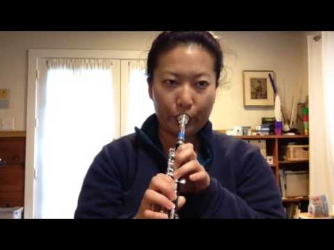 Procrastination time with piccolo and trumpet mouthpiece