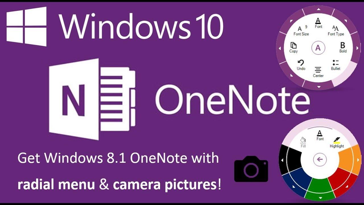 Windows 10 Tip: Get Back Older OneNote App with Radial Menu and Document  Scanning