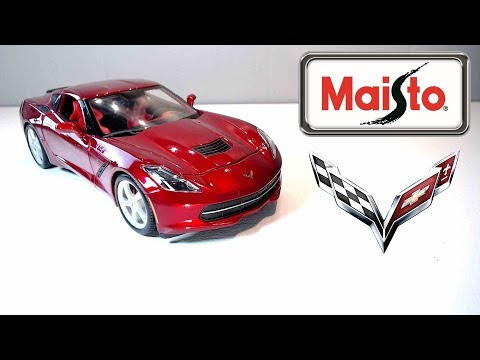 Maisto 1/18 Diecast 2014 Chevrolet Corvette Stingray Unboxing And Review