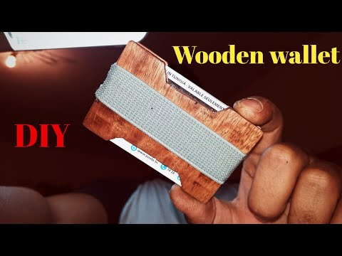 EASY DIY🔥|WOOD WALLET HAND MADE|PORTE CARTES BANCAIRES EN BOIS FAITMAISON|صنع حافظة بطاقات من الخشب