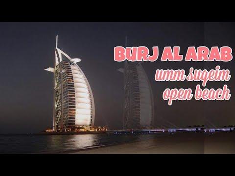DUBAI BEACH   UMM SUQEIM OPEN BEACH   BURJ AL ARAB   View at Night