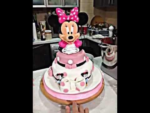 Minni Mouse Cake Decoration تصميم كيكه على شخصيه ميني ماوس