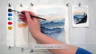 Hướng dẫn vẽ phong cảnh bằng màu nước